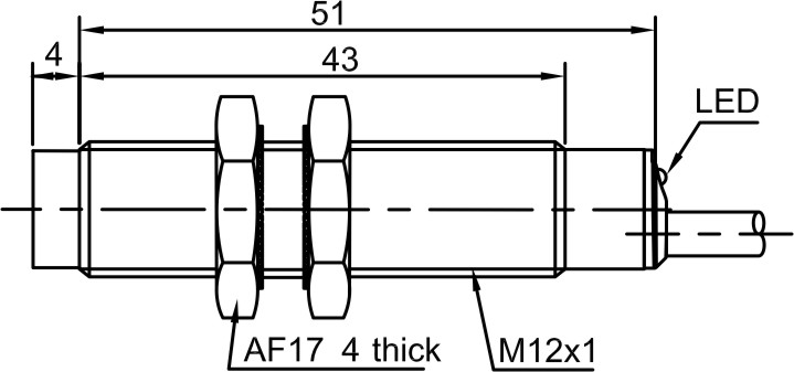 Lanbao Lr12 Series M12 Position Sensors Inductive