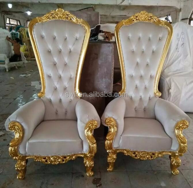 wooden high chair cushion time out sayings gold throne king and queen wedding chairs - buy chairs,gold chair,king ...
