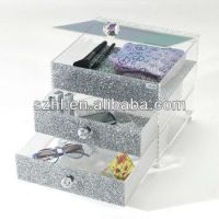 Retail Acrylic Display Table With Drawers For Commercial ...