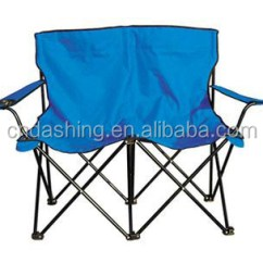2 Person Camping Chair Folding Wooden Double Seat
