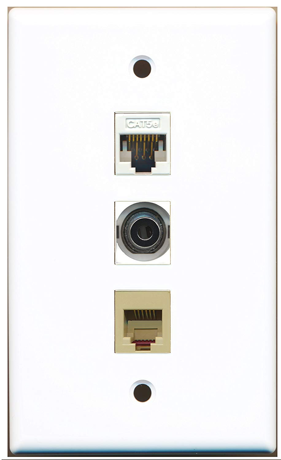 medium resolution of get quotations riteav 1 port phone rj11 rj12 beige and 1 port 3 5mm and 1 port