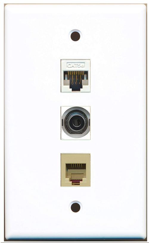small resolution of get quotations riteav 1 port phone rj11 rj12 beige and 1 port 3 5mm and 1 port