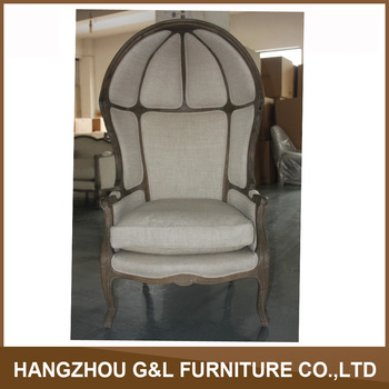 French Provincial Living Room Birdcage Chairwooden Linen