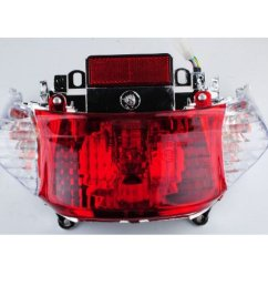gy6 50cc scooter tail light assembly chinese scooter parts tao tao peace sports [ 2560 x 2560 Pixel ]