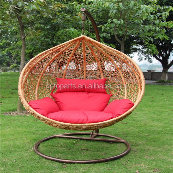 Osier extrieur meubles de Patio oeuf rond droite fauteuil