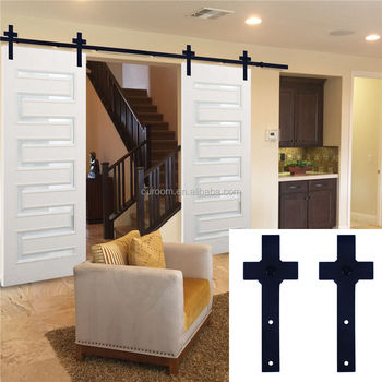 Barn Door Rollers Track Hanging Sliding Garage Hardware Rustic Indoor Barn Door Kit Buy Sliding Door Roller Sliding Door Roller Kit Sliding Barn Door Roller Track Kit Product On Alibaba Com