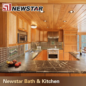 Awesome Newstar Black Marble Veneer Countertops Kitchen Vanity Top