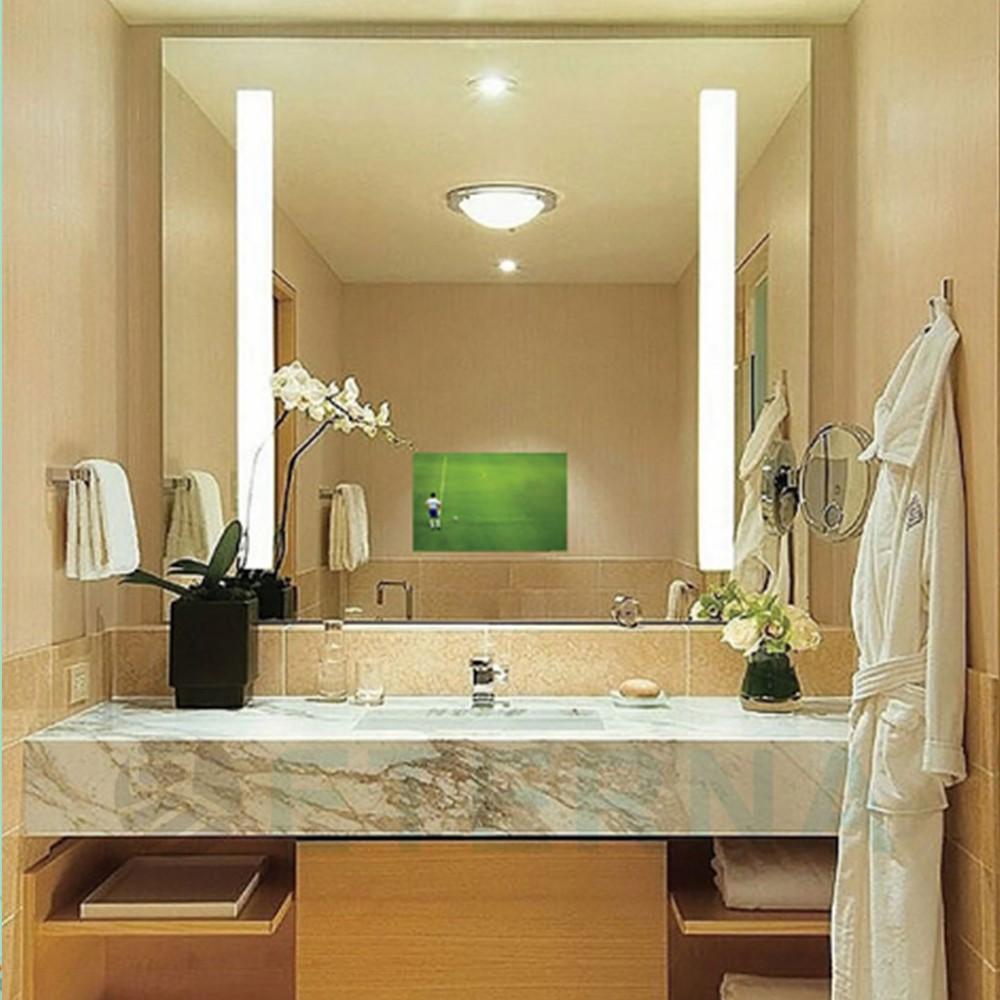 Hotelbathroom Lighted Frameless Mirror For Decoration