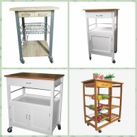Utility 2 Tire Rack Cutting Table Kitchen Island Cart ...