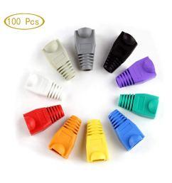 get quotations rj45 strain relief boots 100 pcs mixed color cat5e cat6 rj45 ethernet cable connector plug [ 1200 x 1200 Pixel ]