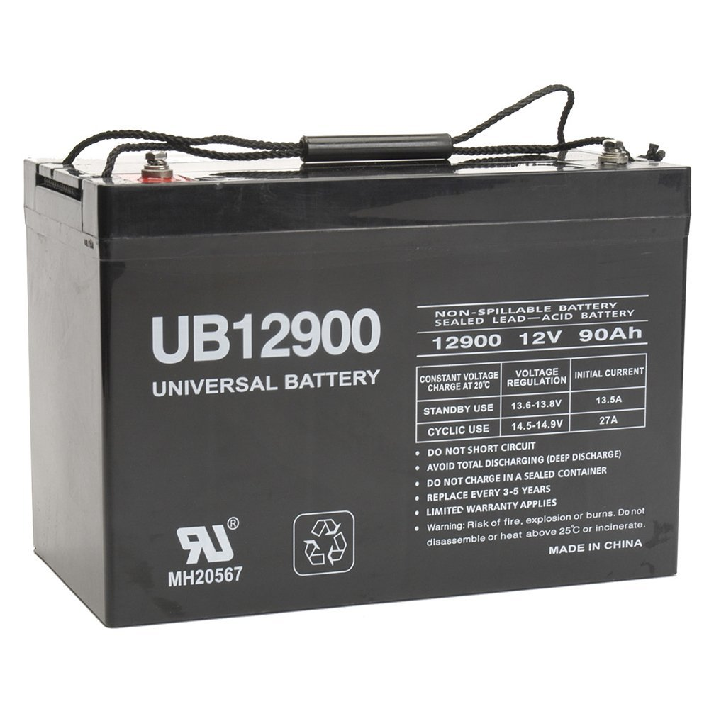 hight resolution of get quotations 12v 90ah battery for power boat pontoon electric trolling motor deep cycle
