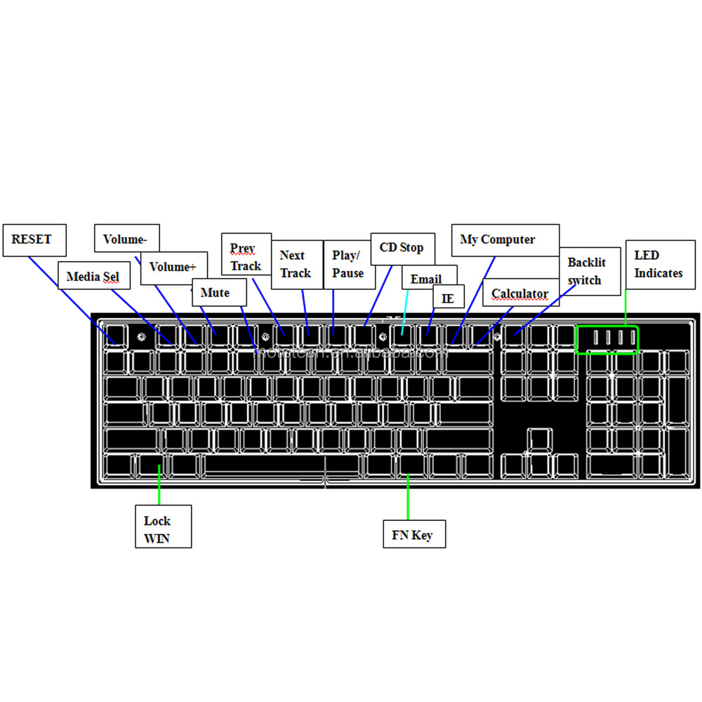 mechanical keyboard wiring diagram simple am receiver circuit motospeed ck104 gaming professional usb wired