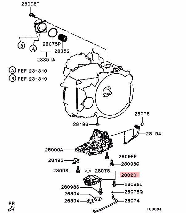 Transmisión Automática Filtro De Aceite Para Mitsubishi