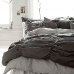 Buy Shabby Chic Smocked Ruched Cotton Duvet Cover Dark Gray Smock Pleated Bedding 2pc Set Modern Slate Grey French Country Style Twin Single In Cheap Price On Alibaba Com