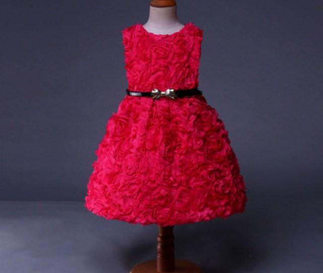 Handmake Rose Designer Evening Gowns Kerala Girl Hot Red Dress