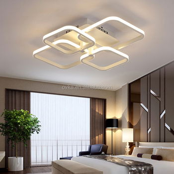 led ceiling light living room small furniture sets rectangular modern warm bedroom lights remote dimming study lamps lighting lamp