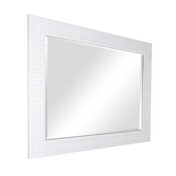 Decor Bathroom Large White Framed Mirror