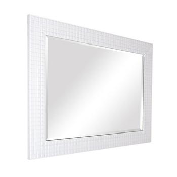 Decor Bathroom Large White Framed Mirror