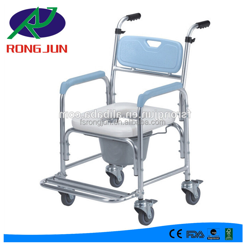 shower chair malaysia hanging chairs garden disabled toilet commode with wheels wheelchair rj c681