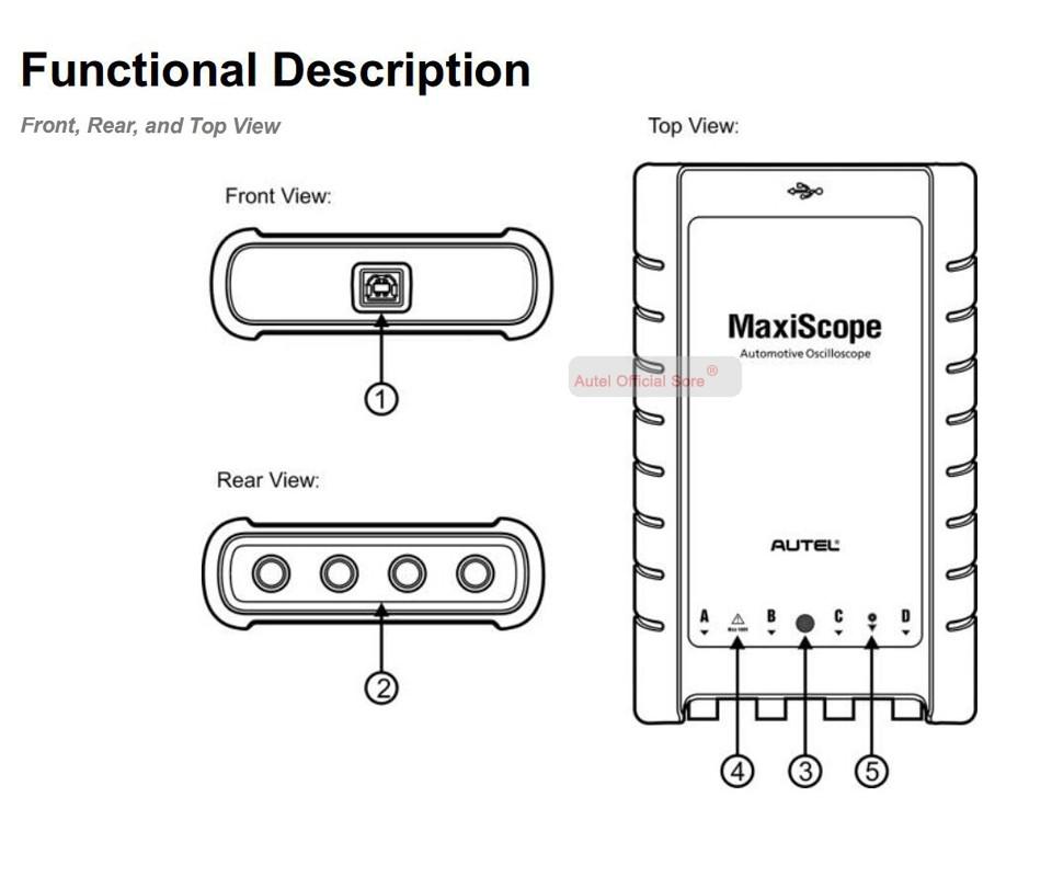 Autel Maxiscope Mp408 4 Channel Automotive Oscilloscope