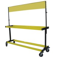 Moving 2 Layers Heavy Tire Display Stand/ Mobile Tire Rack ...