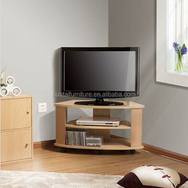 tv stands for living room rooms with brown leather sofas wood corner design stand television cabinet wheel