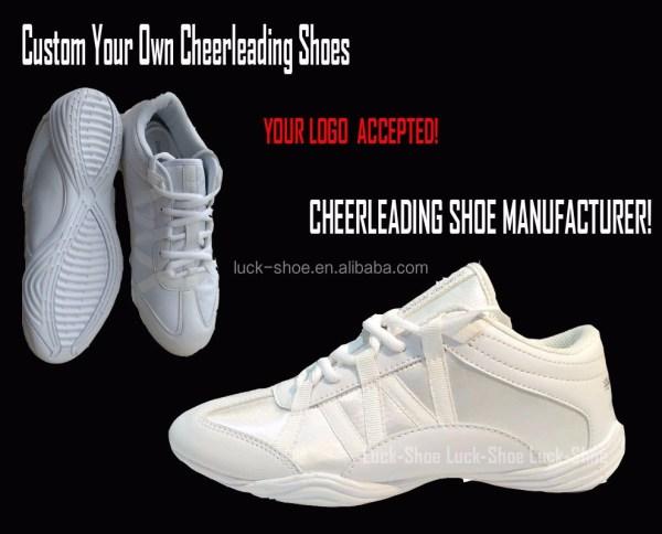 Pure White Soft Durable Cheerleader Zapatillas Cheer Shoes Factory Cheerleading