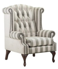 High Back Wing Chair Sofa Antique Living Room Furniture ...