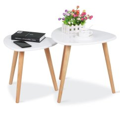 White Living Room Side Table Dark Grey Couch Design Gloss Wood Nesting Tables Sofa End Set Of 2