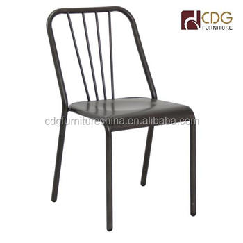 industrial bistro chairs high back beach furniture wholesale metal restaurant chair french vintage dining
