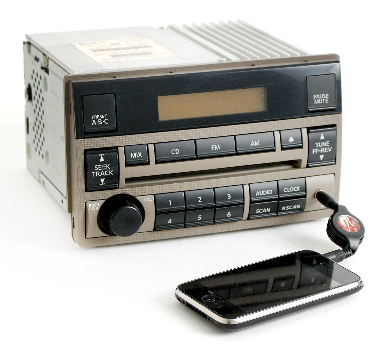 hight resolution of get quotations nissan altima 2005 2006 tan radio amfm cd aux input 28185zb00c standard vol ctrl