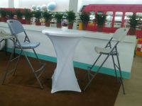 80cm Round Outdoor Hdpe Plastic High Top Bar Tables ...