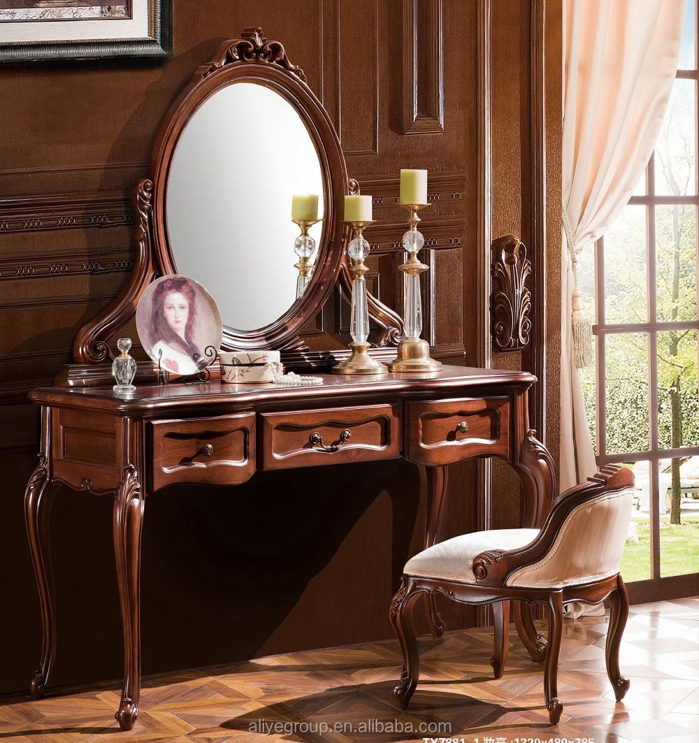 Tyzd8811luxury Dressing Makeup Table Wooden Dresser Set