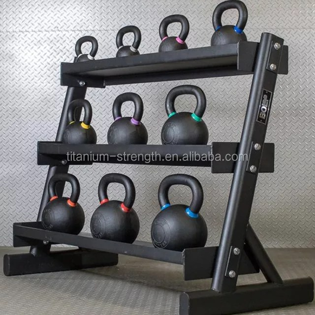 titanium 3 tier kettlebell storage rack home gym use view dumbbell rack titanium product details from nantong titanium strength systems co ltd on