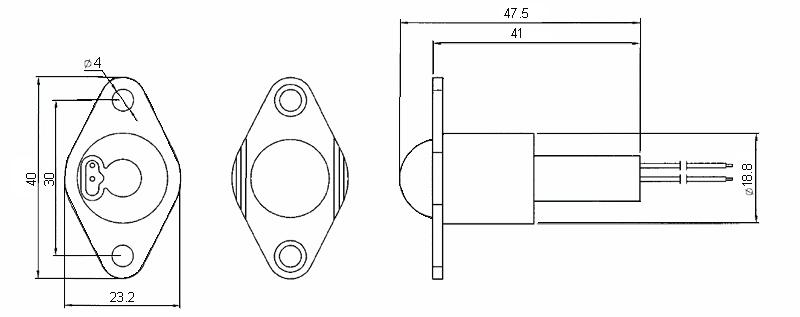 Ul Listed 2 Wire Door Proximity Sensor Magnetic Contact