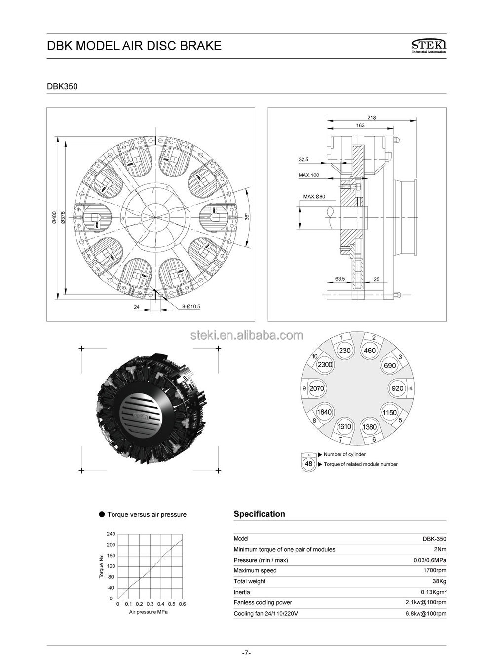 Steki 2017 Air Disc Brakes/pneumatic Brakes Alternative