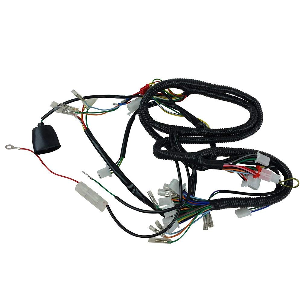 hight resolution of get quotations chinese gy6 150cc wire harness wiring assembly scooter moped sunl roketa