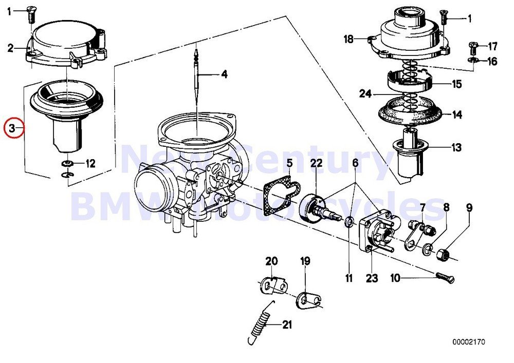 Buy 2 x BMW Genuine Motorcycle Carburetor Mounting Parts