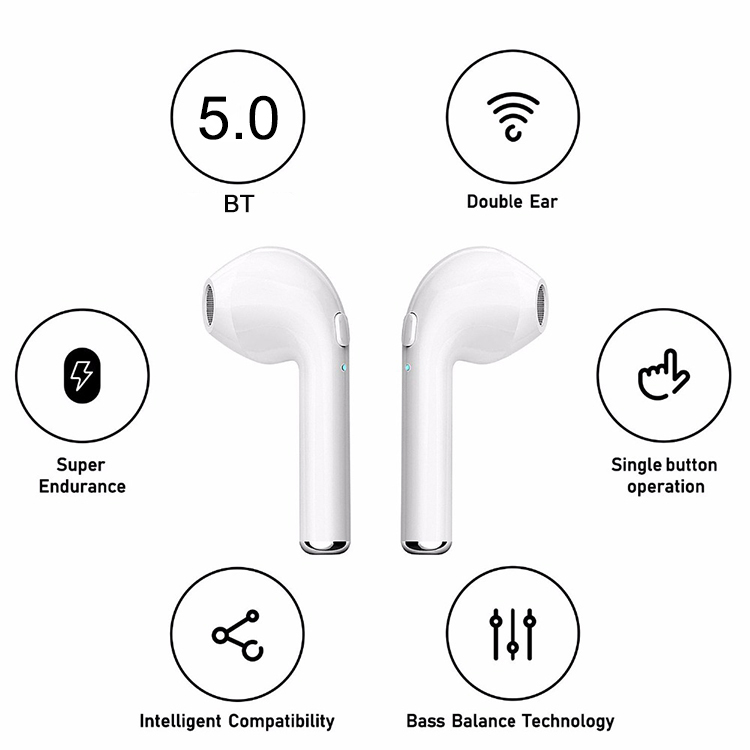 Binaural Call Bt 5.0 Tws I7s Wireless Earphones Wireless