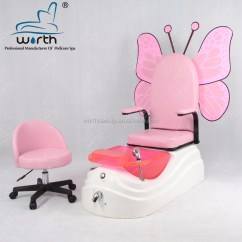 Butterfly Pedicure Chair Wicker Chairs Uk Pink Kid Wholesale Suppliers Alibaba