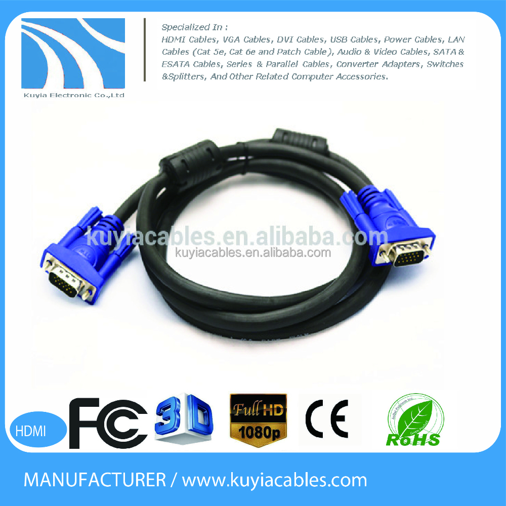 hight resolution of 15pin vga to coaxial cable wiring diagram vga cable male to female cable view vga to coaxial cable oem kuyia product details from shenzhen kuyia