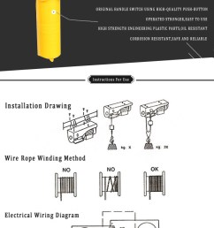 small wire rope hoist 110 120 220 230 volt 120v electric winch 110 electric hoist wiring diagram power cord [ 667 x 1181 Pixel ]