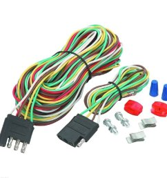 4 four way trailer wiring connection kit flat harness new wire towing car [ 1002 x 1002 Pixel ]