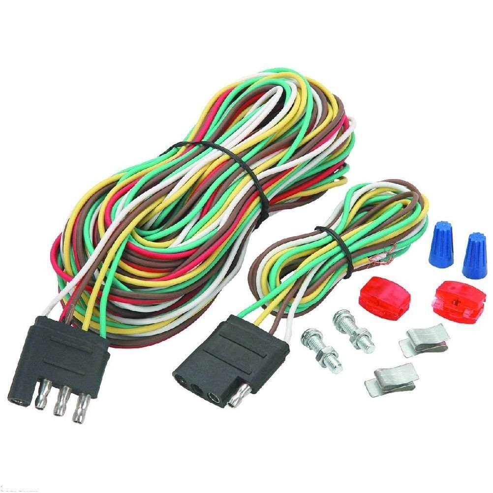 hight resolution of 4 four way trailer wiring connection kit flat harness new wire towing car