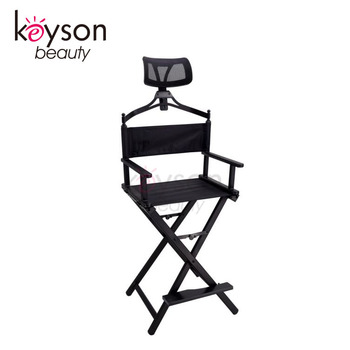 aluminum directors chair small leather and ottoman keyson folding director with side table portable makeup customized logo