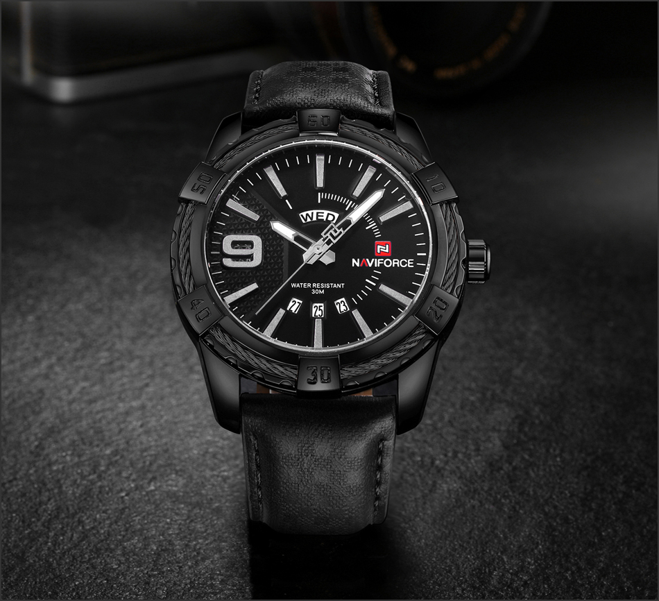 HTB1nduwb2al9eJjSZFzq6yITVXaU NAVIFORCE Top Luxury Brand Men Quartz Watch Army Military Sport Business Watches Week Analog Display Male Clock Waterproof Hour