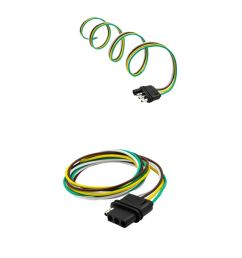 get quotations dovewill 2 pieces 4way flat plug wire wiring harness kits for trailer boat car rv us [ 1024 x 1024 Pixel ]
