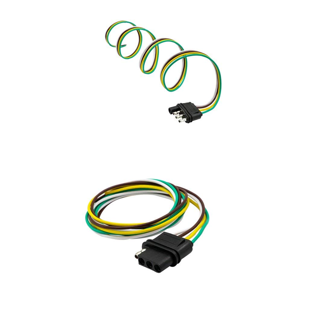 hight resolution of get quotations dovewill 2 pieces 4way flat plug wire wiring harness kits for trailer boat car rv us