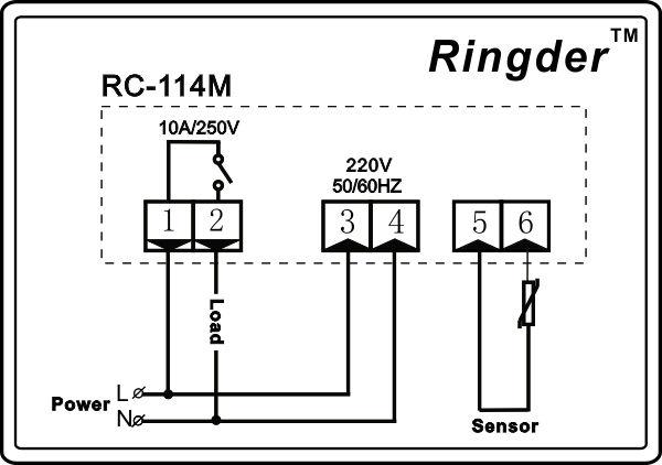 Heating Element Temperature Control Wiring Diagram : 50