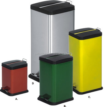 kitchen recycling bins trailer k mart square pedal trash waste garbage for